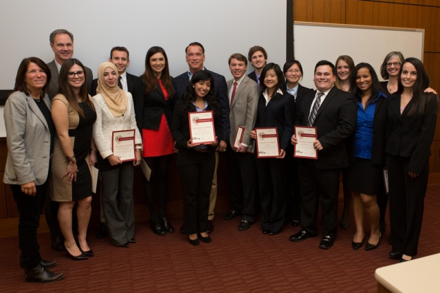 Group Photo of the USC Schwarzenegger Institute inaugural class